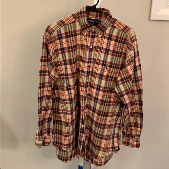 Ralph Lauren Other - Men's Ralph Lauren green and peach shirt